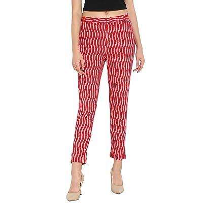 Janasya Women's Cotton Ikkat Narrow Pant (BTM014-XS) at Women's Clothing store