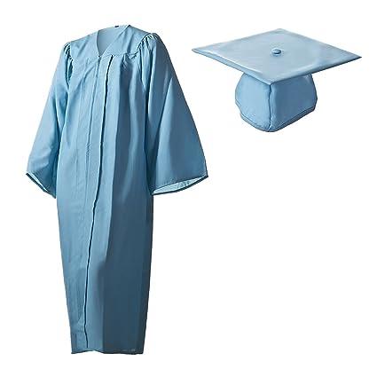 Amazoncom Matte Light Blue Graduation Cap And Gown Set In Multiple