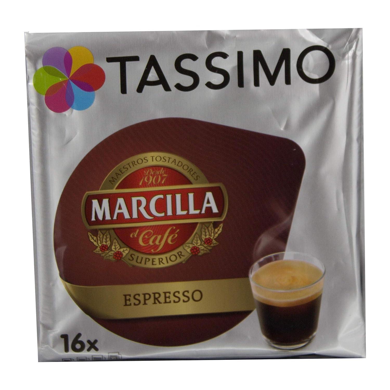 Tassimo Café Marcilla Expresso - 80 Cápsulas (T DISCs) compatibles con cafeteras Tassimo Bosch - 5 Paquetes de 16 Unidades: Amazon.es: Alimentación y ...