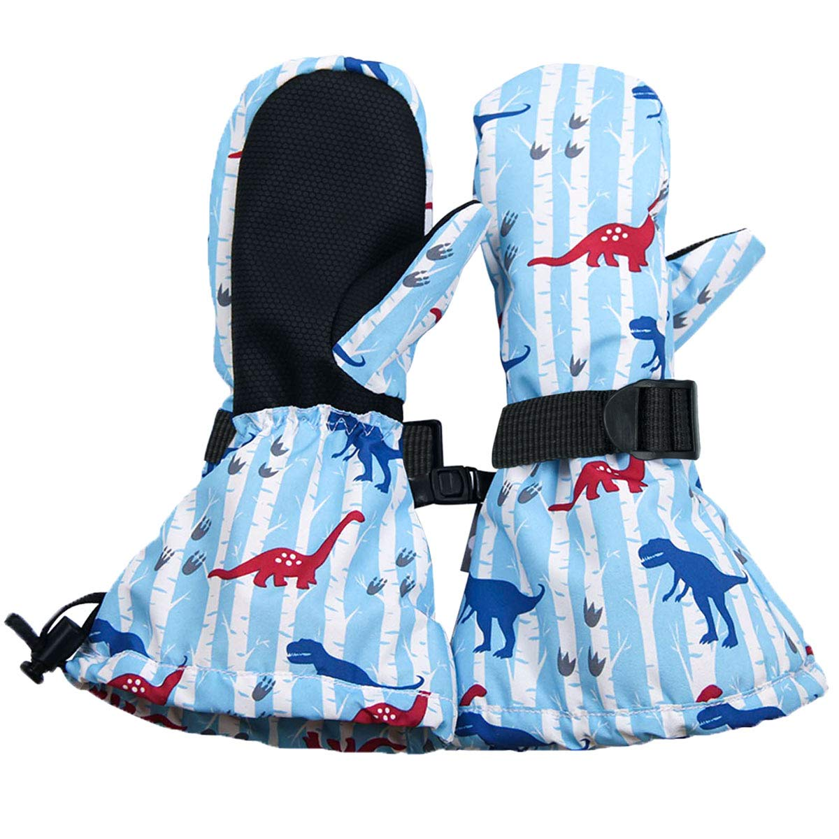 L: 6-8Y: Woodland Jan /& Jul Waterproof Stay-on Winter Snow and Ski Mittens Fleece-Lined for Baby Toddler Kids Girls and Boys