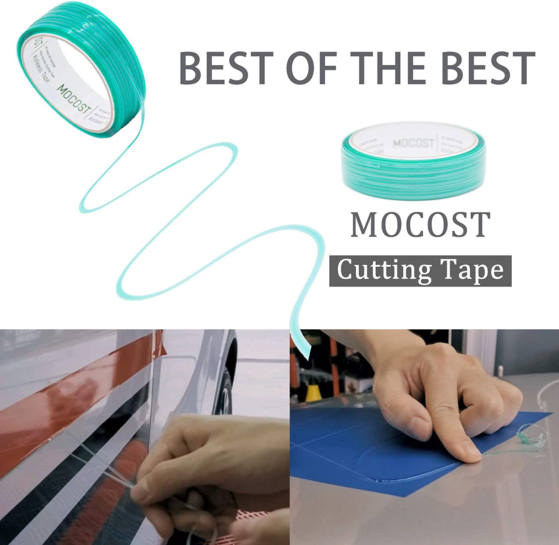 Roll MOCOST Films Cutting Tape Knifeless Cutting Tape Finish Line Design Line Vinyl Wrap Cutting Vinyl Wrap Edge Cutting Detailer Tape 16 ft