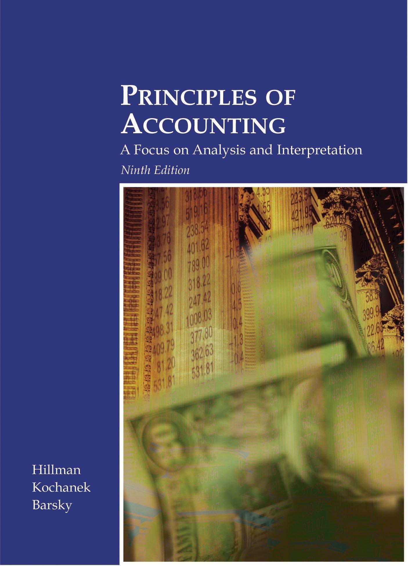 Download Principles of Accounting: A Focus on Analysis & Interpretation ebook