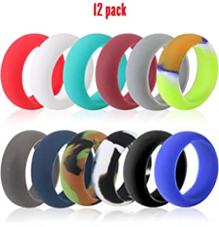 Amazon Com Rubber Wedding Ring 5 Rings Pack Universal Size Black