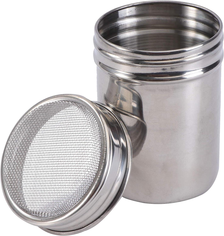 sal az/úcar especia ounona botella de condimento de acero inoxidable patatas saupoudreur para cacao