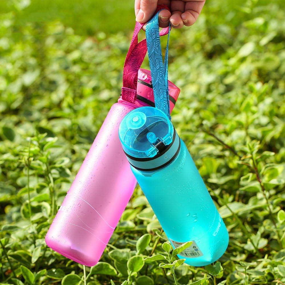 Pink HGDGears Leak Proof Flip Top Water Bottles,One Click Open for Outdoor /& Gym Sport,BPA Free Plastic Sports Water Bottle,20oz BPA Free Tritan Plastic Sports Bottle 20oz