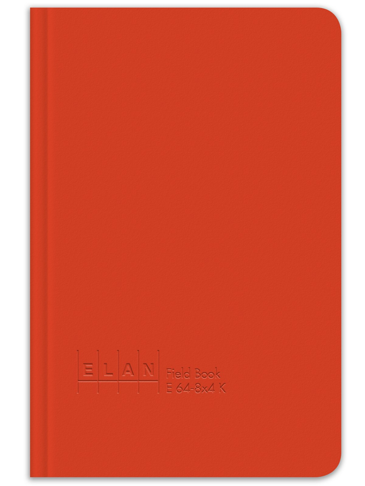 Elan Publishing Company E64-8x4K King Size Field Surveying Book 6 x 9, Bright Orange Cover (Pack of 24)