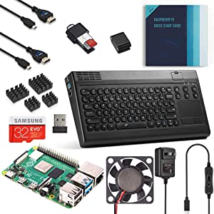 Vilros Raspberry Pi 4 Complete Desktop Kit with Keyboard and Touchpad Hub Case (4GB)
