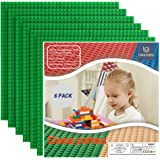 """Lekebaby Classic Building Base Plates 10"""" x 10"""" Baseplates Compatible with All Major Brands, Green Building Board, Pack…"""