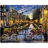 ADanie DIY Oil Painting Paint by Number Kits Love of Amster-Dam for Adult Beginners Kids 16 * 20 Inch (No Frame)