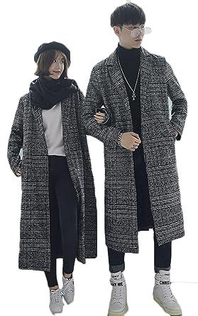 BaSen メンズ ロングコート 秋 冬 長袖 千鳥格子 ロングアウター かっこいい おしゃれ 厚手 チェスター