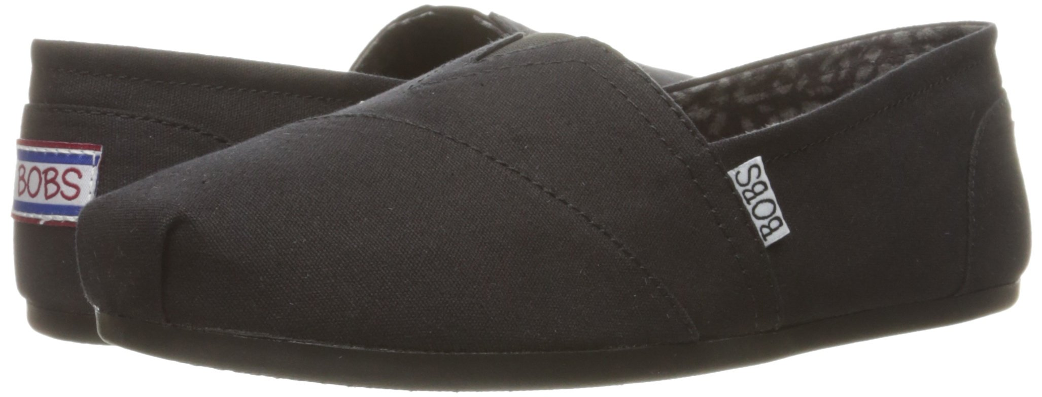 Skechers BOBS from Women's Plush - Peace and Love Flat, Black, 9.5 W US by Skechers (Image #6)