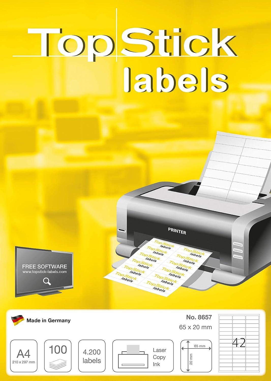 4000 Adressetiketten Kores Etiketten 52,5x29,7 mm 100 Blatt mit Rand