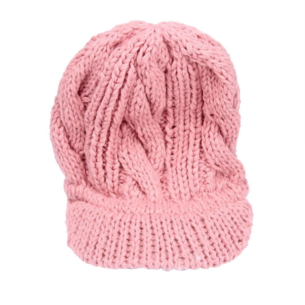 Tuscom Fashion Women Hat Winter Skullies Beanies Knitted Wool Hats Cap