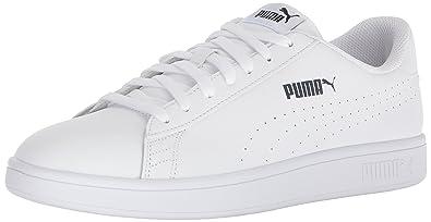 9db1d20241a323 PUMA Men s Smash Leather Perf Sneaker White