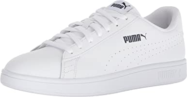 PUMA Men's Smash Leather Perf Sneaker