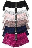 MaMia 6 Pack of Women's Lace Boyshort Panties