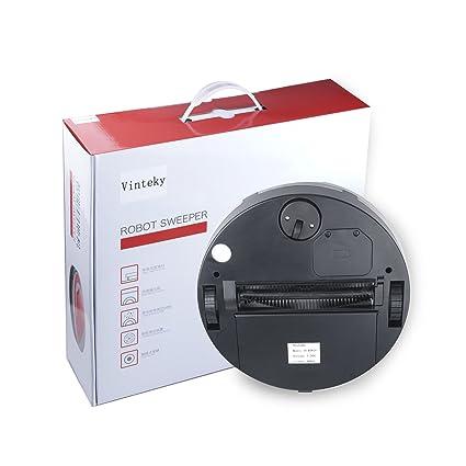 Vinteky®Robot Aspirador Autónomo(diámetro 286 mm, AC110-240V) (Rojo