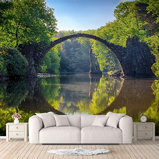 Idea4wall Wall Murals For Bedroom Beautiful Nature Norway Natural Landscape Large Removable Wallpaper Peel And Stick Wall Stickers 66x96 Inches Amazon Com