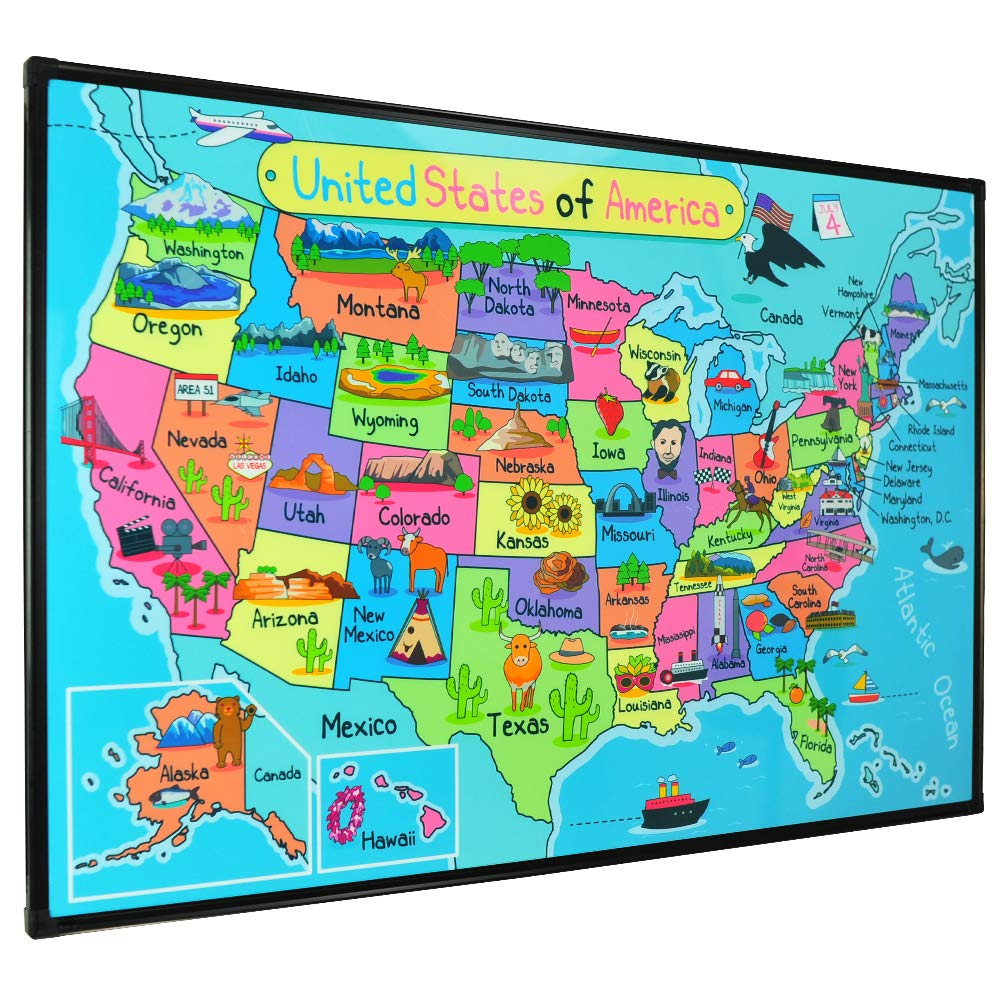 Lockways Magnetic Dry Erase Map Décor whiteboard, Kid USA Travel Map on united states maps usa, atlas of usa, outline of usa, new jersey usa, southeast usa, globe of usa, travel usa, satellite of usa, union of usa, world map usa, states of usa, geography usa, mountains usa, mapquest of usa, flag of usa, drawing of usa, road map usa, city map usa, history usa, physical map usa,