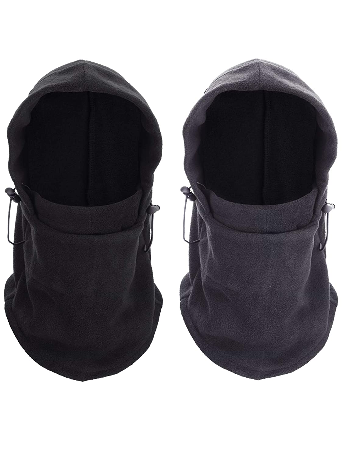 Tatuo 2 Pieces Balaclava Masks Windproof Face Mask Ski Cycling Fleece Hood for Men and Women