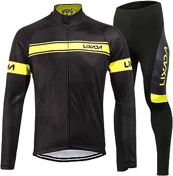 Lixada - Conjunto de ropa de ciclismo para hombre, camiseta de ...