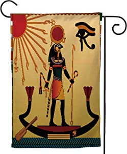 C COABALLA of Ancient Egpt.The s Egpt Aten and Ra.Ra in The Solar bark,Decorative Outdoor Flag Sign,House Yard Garden Flag Seasonal Outside Decoration 12.5''x18''