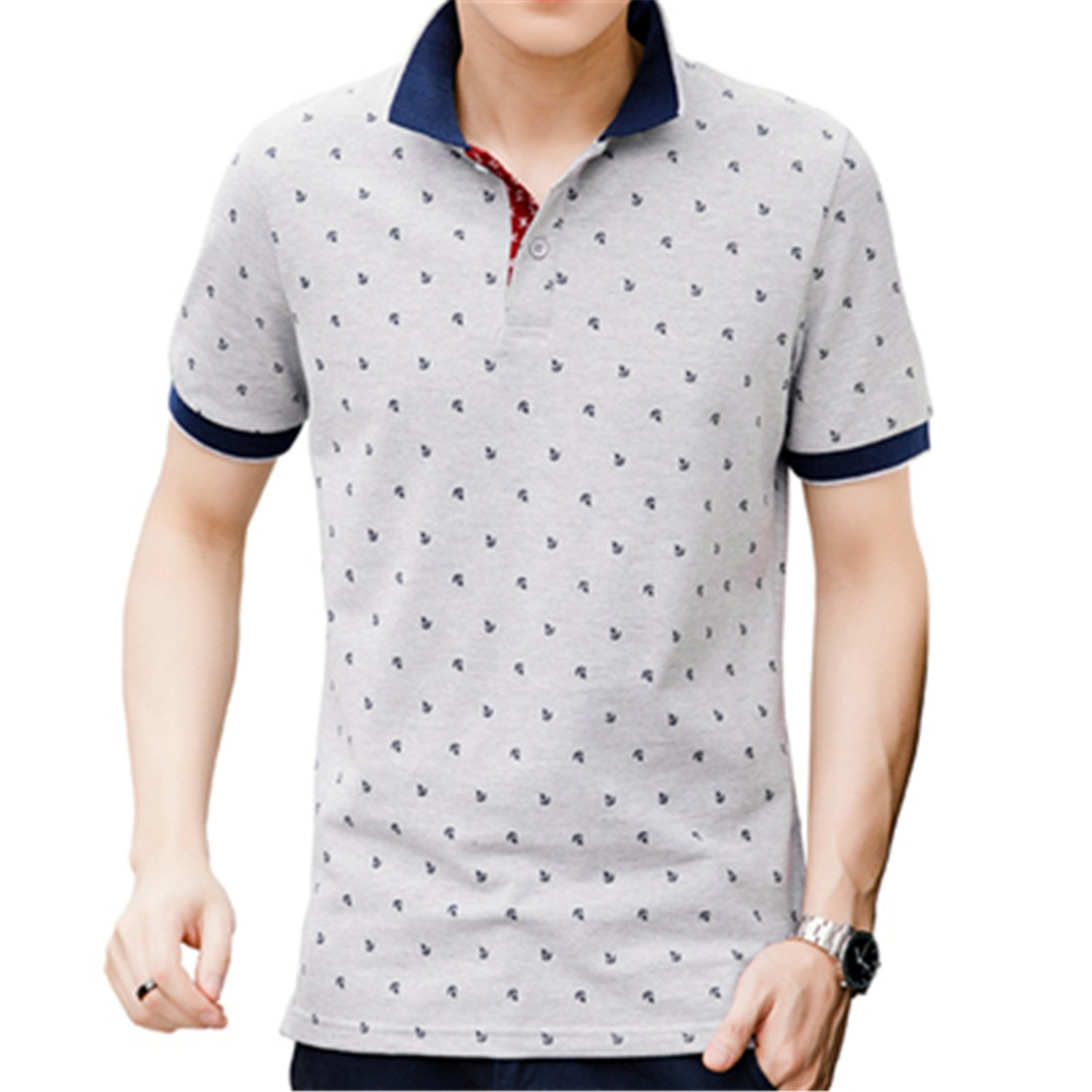 Gomis Shirt Men Summer Cotton Printed Polo Shirts Brands Short Sleeve Polo Collar Male Polo Shirts 3XL
