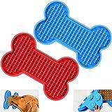 Zacro Dog Lick Mat Bath - 2 Pack Slow Dispensing Treater Dog Bath Peanut Butter Lick Pad, Lickmats for Pet Bathing…