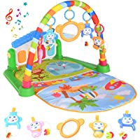 WANJING Lekmatta för baby, musikaktivitet, gym, spark och spela piano för nyfödda leksaker, med musik och ljus för…