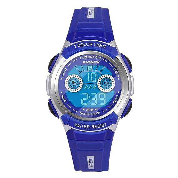 de2b8430759e Hiwatch Reloj Multifuncional LED Digital a Prueba de Agua Relojes para los  Niños  Amazon.es  Relojes