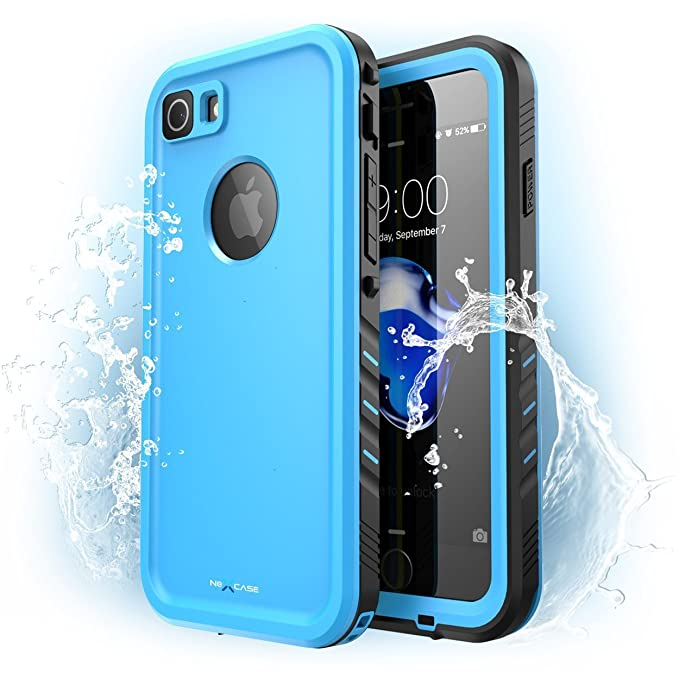 outlet store 6ba1c 3e928 iPhone 7 Case, NexCase Waterproof Full-body Rugged Case with Built-in  Screen Protector for Apple iPhone 7 2016 Release (Blue)