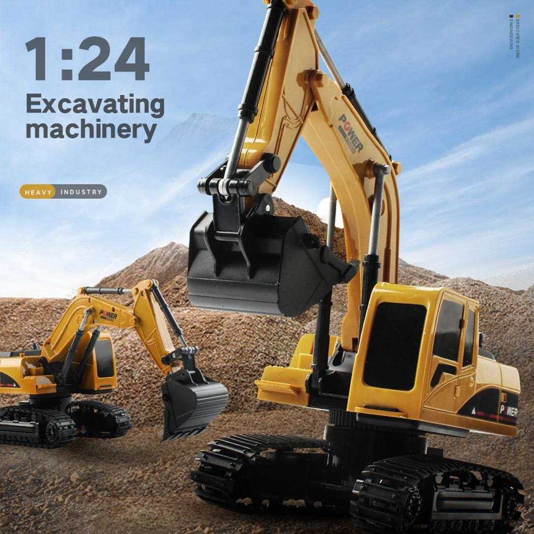 Bealye 1:24 Four-Wheel Drive Crawler Excavator Remote Control Educational Toy with Light by Bealye (Image #2)