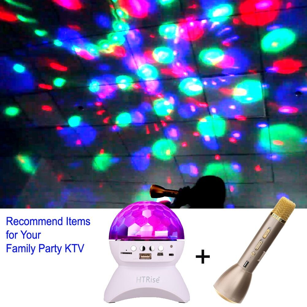 Disco Ball Home Party Light Speaker, DJ Stage Lighting with Wireless Bluetooth Speaker (3rd White)