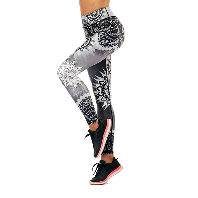 1d8645d7bacd3 Women's Rainbow Printed Yoga Pants Workout Yoga Gym Leggings Skinny Tights (3D  Leggings 009,