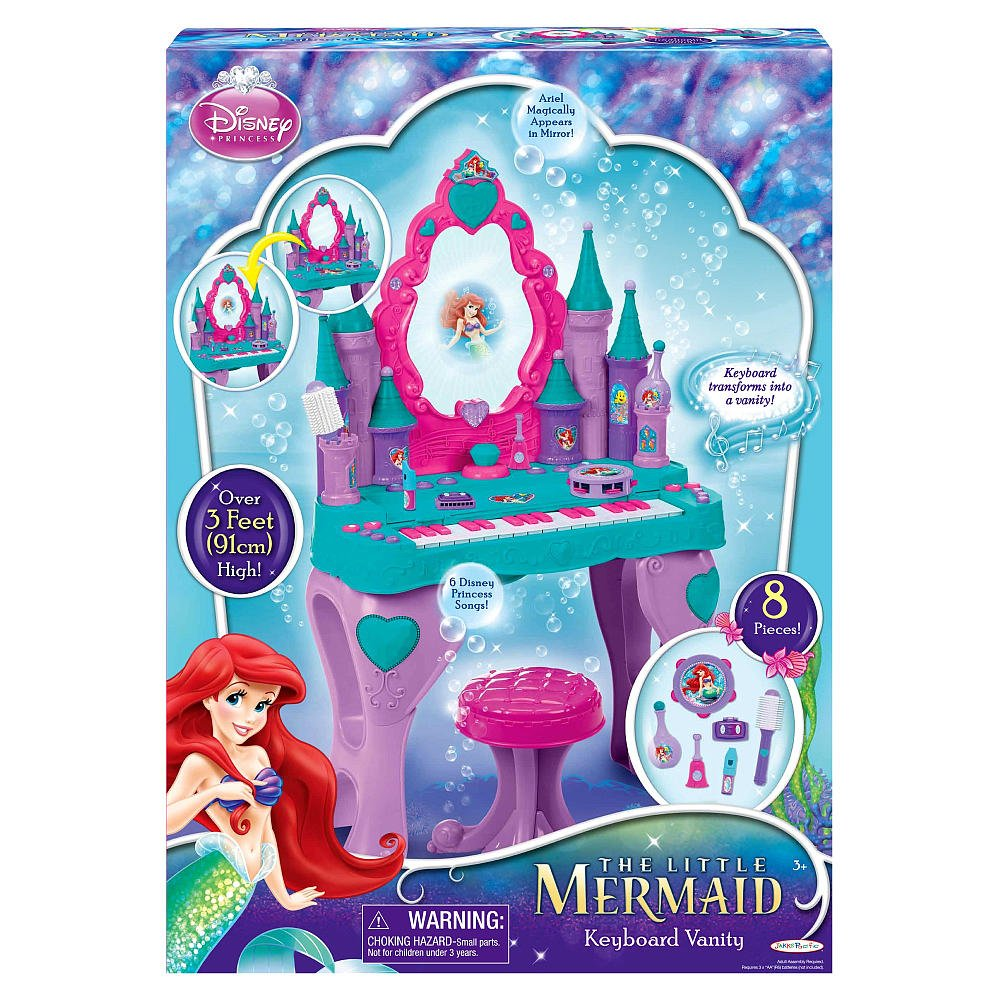 Amazon disney princess ariel keyboard and vanity toys games geotapseo Images