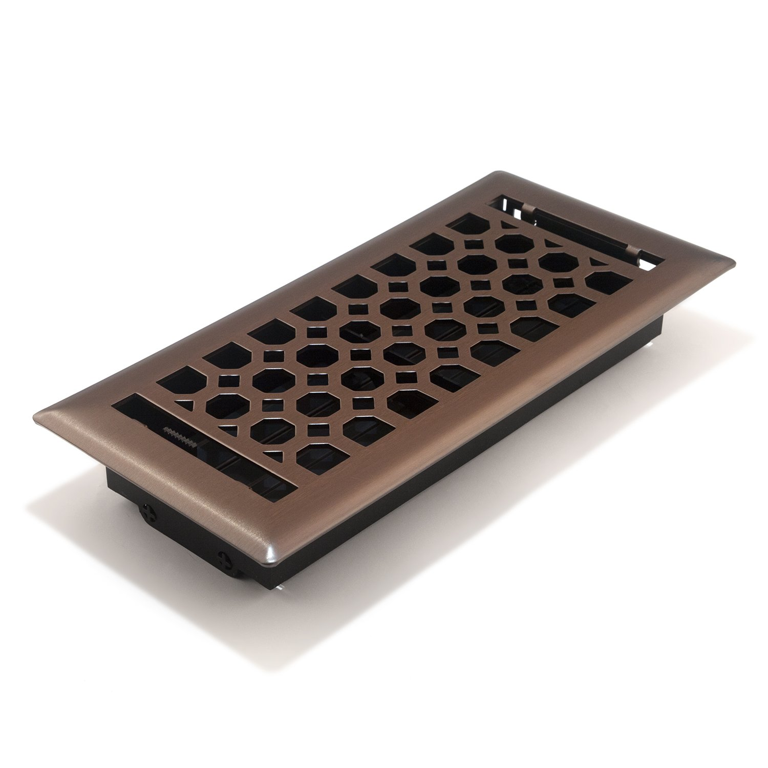 Accord AMFRLRBCH410 Charlotte Floor Register, 4-Inch x 10-Inch(Duct Opening Measurements), Light Oil-Rubbed Bronze