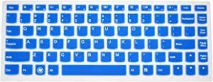 PcProfessional Blue Ultra Thin Silicone Gel Keyboard Cover for Lenovo IdeaPad U300 U300s U310 U400 U410 U430 U430p Z400 P400 S300 S400 S405 Yoga 13, Yoga 2 Pro, Yoga 2 13-inch Convertible Ultrabook Laptop with Application Kit (Please Compare Keyboard Layout and Model)