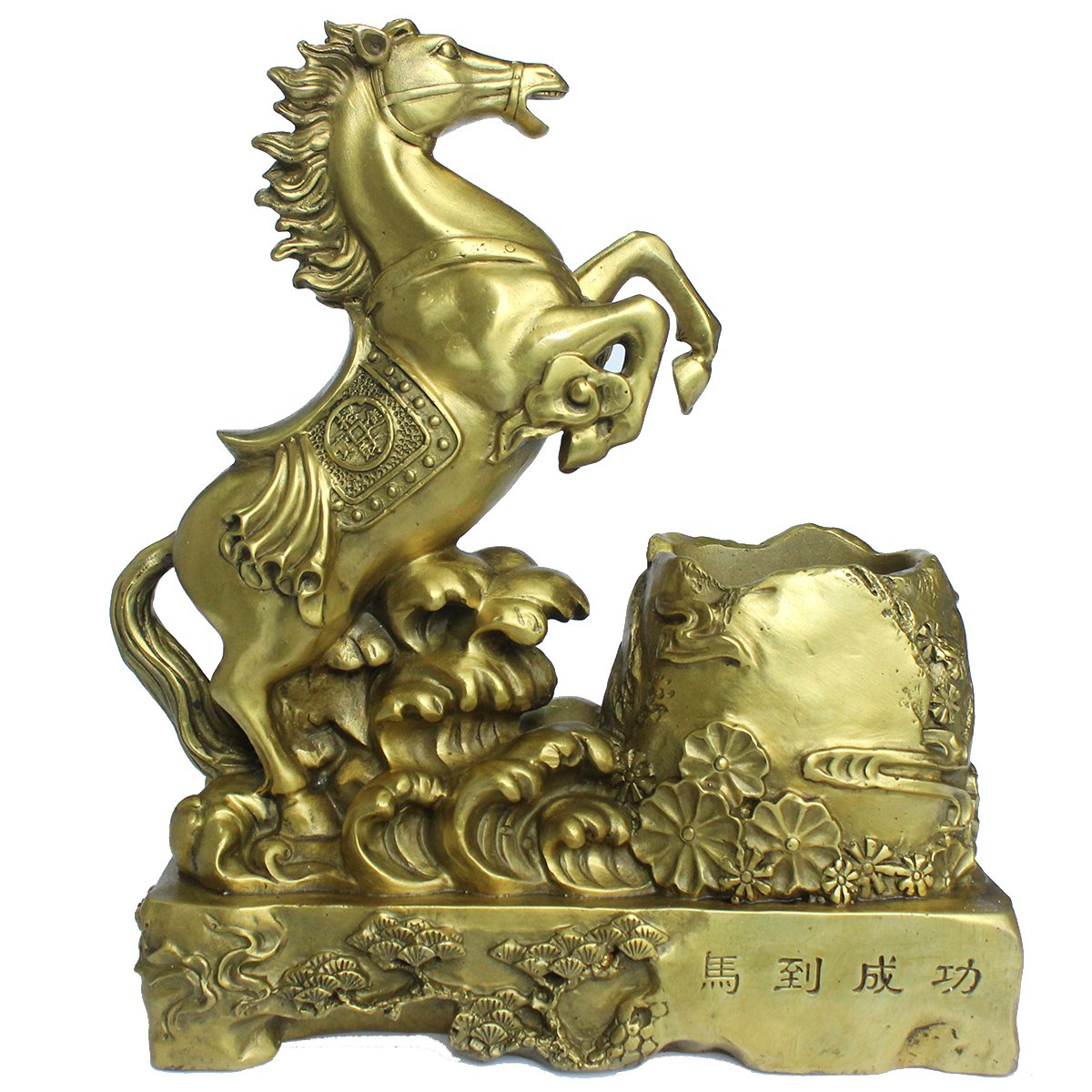 FENGSHUI Handmade Horse Attracting Success Collectible Statues Furnitures Desktop Decoration Gift - Achieve immediate victory