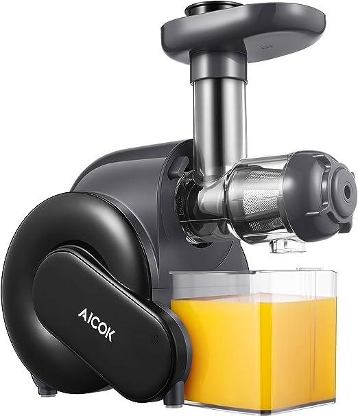 Amazon.com: Aicok - Exprimidor de masticación lenta con ...