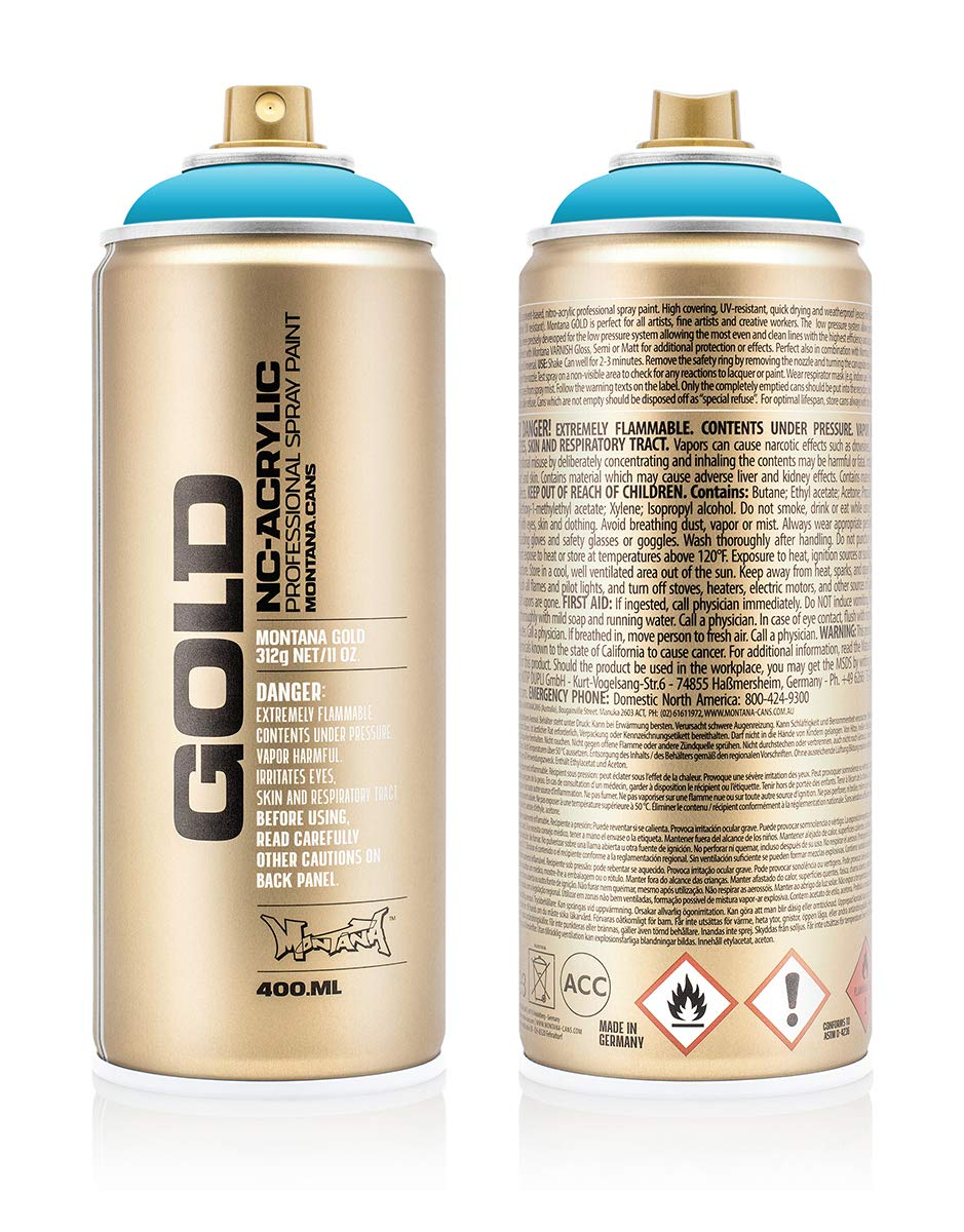 Montana Cans 284830 Spray Dose Gold 400ml, Gld400-5030-Bermuda