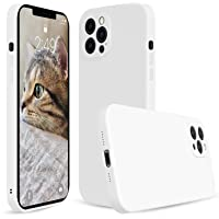 Silicone Case Microfiber Lining With Camera Protection For Apple iPhone 12 Pro Max 6.7 - White