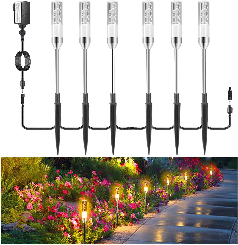 3PCS LED Solar Lawn Lamp Street Garden Path Landscape Waterproof Bollard Light