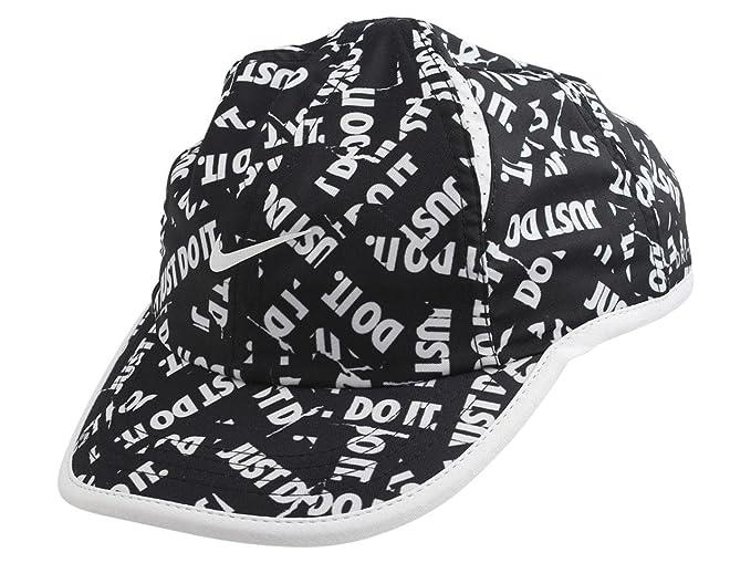 1d350ff666142 Nike Toddler Kid s Aerobill Black White Strapback Baseball Cap Hat Sz  ...