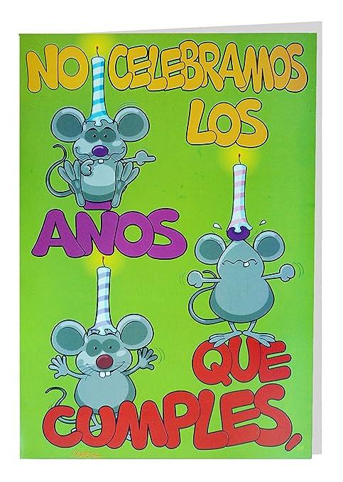 Tarjeta Felicitación Gigante Cumpleaños, 50 x 34 cm: Amazon ...