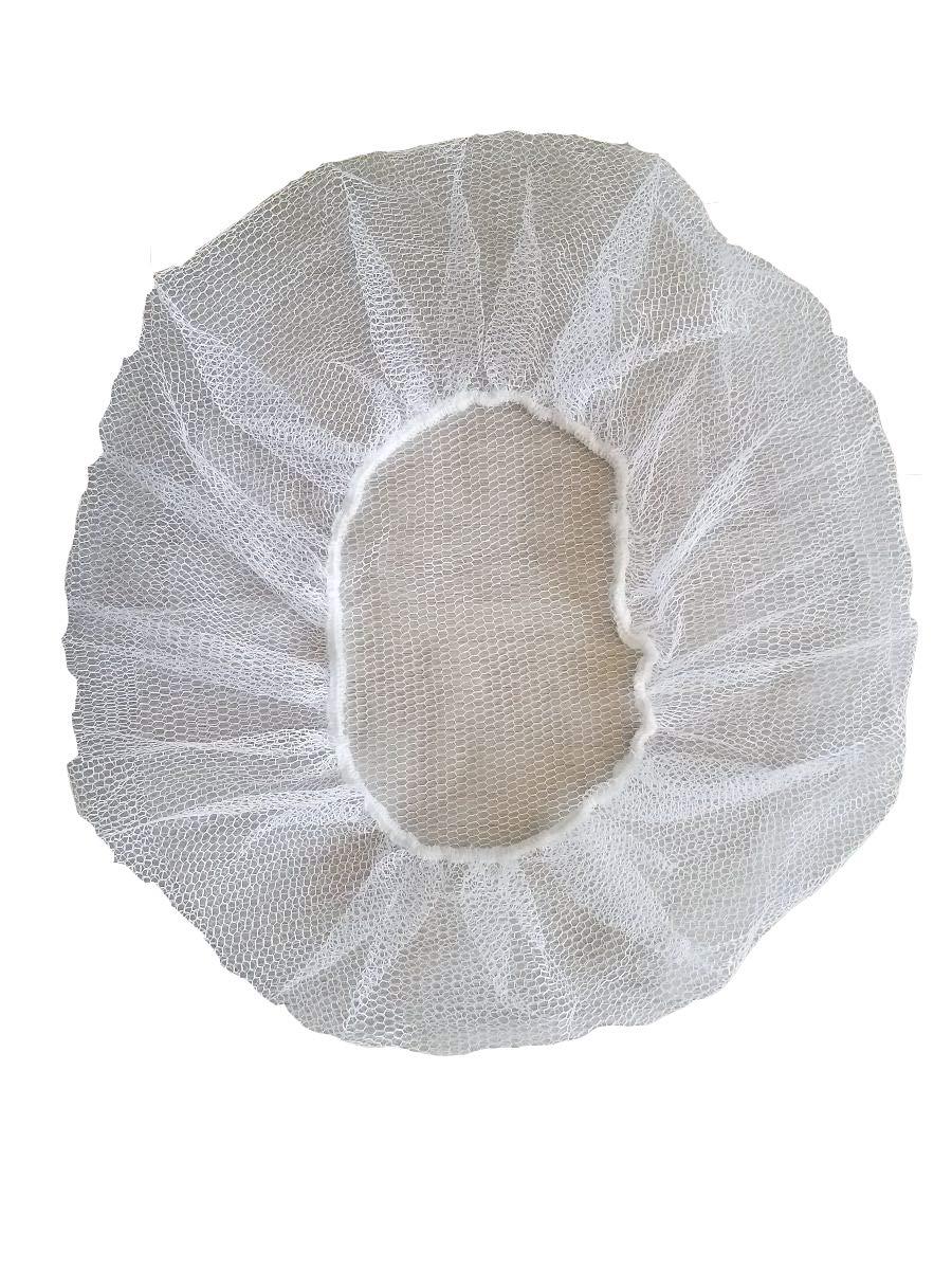 International Enviroguard Nylon Hairnet, White, Food Service, Large,24'', Case of 1000)
