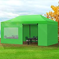 Mountview Gazebo Tent 3x6 Marquee Gazebos Mesh Side Wall Outdoor Camping Canopy Green