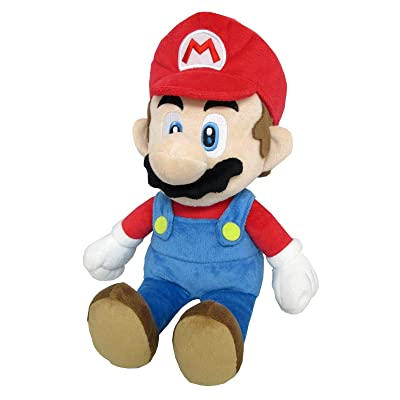 "Little Buddy 1583 Super Mario All Star Collection - 1583 - Mario Medium Stuffed Plush, 14"": Sanei: Toys & Games"
