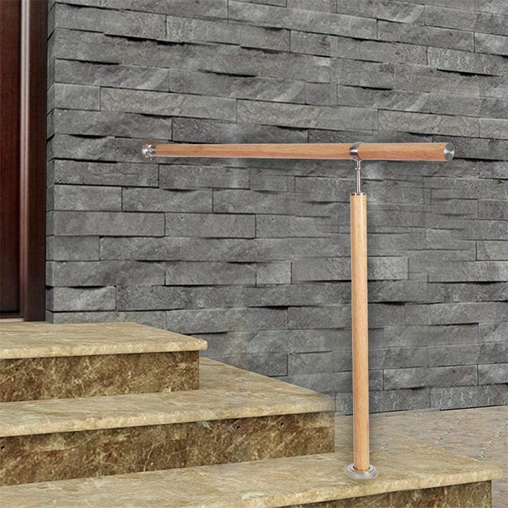 150cm, Holzmaserung MCTECH Gel/änder Eingangsgel/änder Edelstahl Handlauf Wandhandlauf Treppengel/änder Au/ßen Innen Treppenhaus