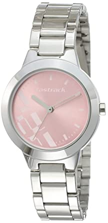70d6e45db Image Unavailable. Image not available for. Colour  Fastrack Analog Dial  Women s Watch (Pink ...