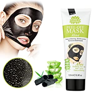 MEINAIER Blackhead Remover Mask,Blackhead Peel Off Mask,Purifying Peel-off Mask Black Mud Pore Removal Strip Mask For Face Nose Acne Treatment (Aloe vera)